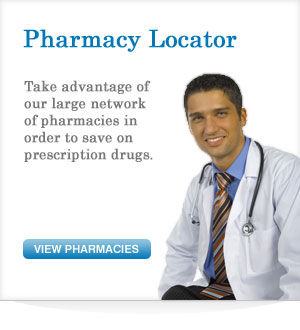 Pharmacy Locator - Take advantage of our large network of pharmacies in order to save on prescription drugs.